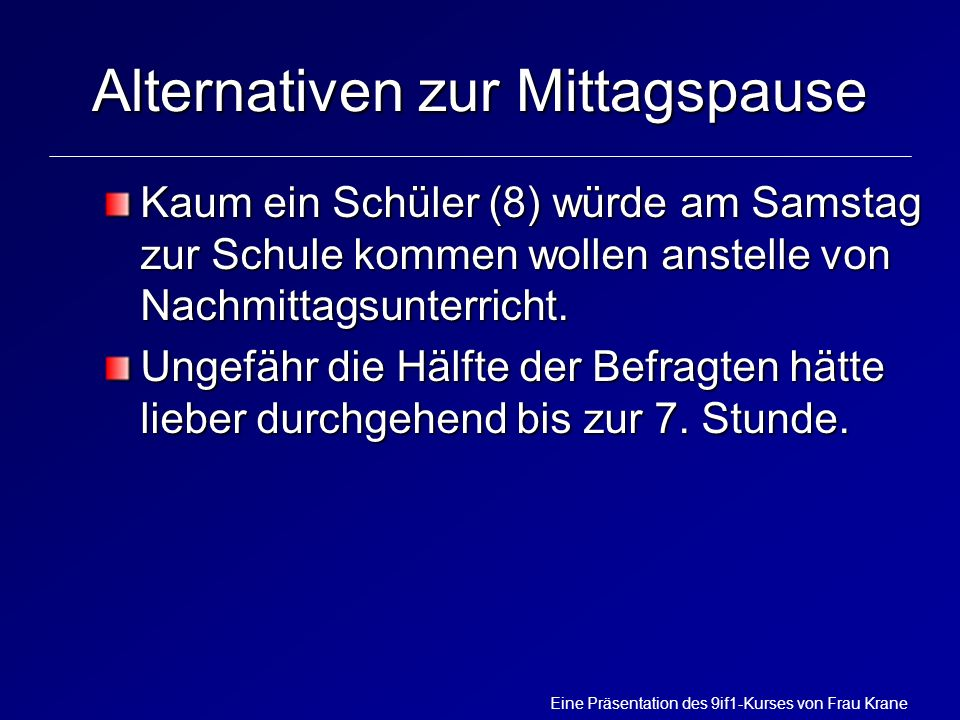 Alternativen zur Mittagspause