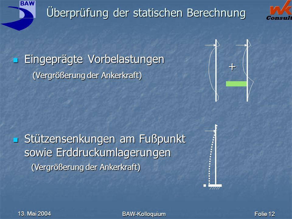 Überprüfung der statischen Berechnung