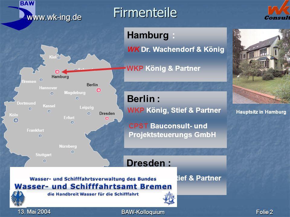 Firmenteile Hamburg : Berlin : Dresden : WK Dr. Wachendorf & König