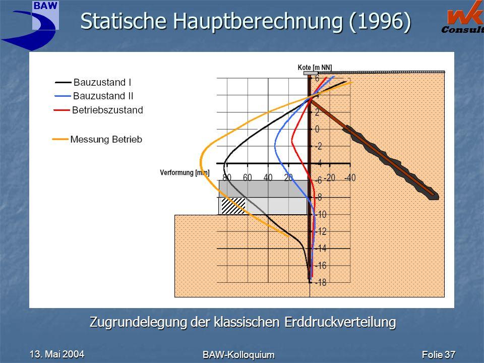 Statische Hauptberechnung (1996)