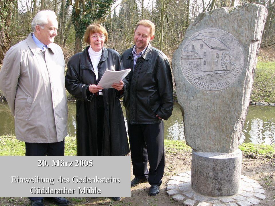 Einweihung des Gedenksteins Güdderather Mühle