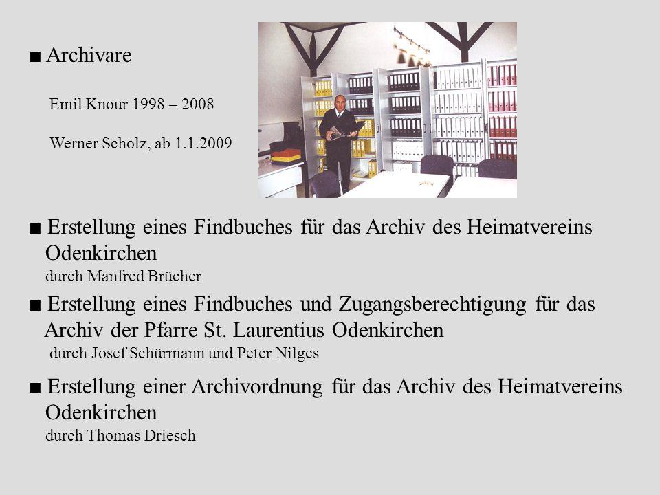 Archiv der Pfarre St. Laurentius Odenkirchen