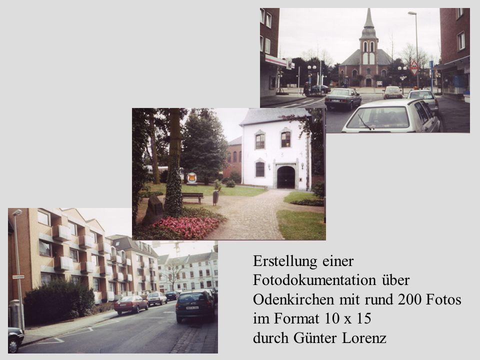 Erstellung einer Fotodokumentation über Odenkirchen mit rund 200 Fotos