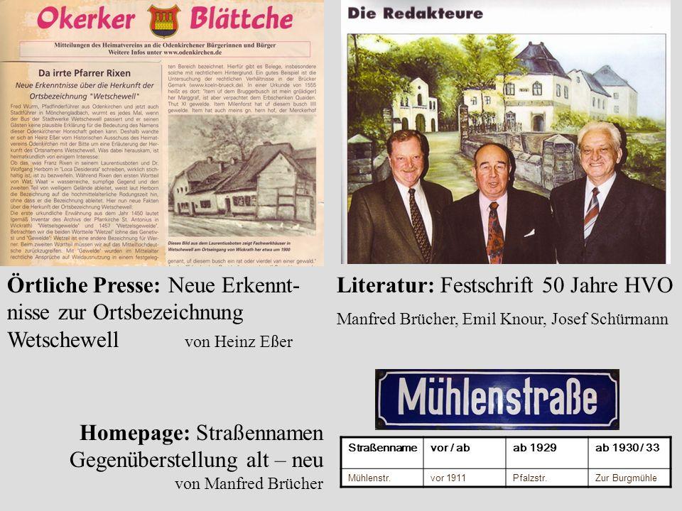 Literatur: Festschrift 50 Jahre HVO