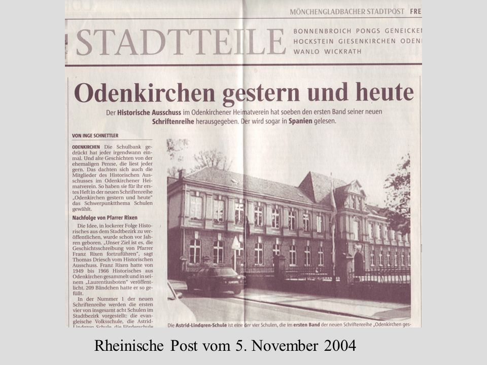 Rheinische Post vom 5. November 2004
