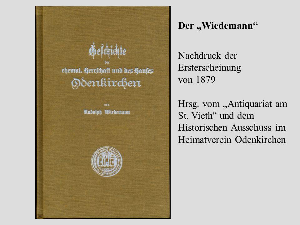 """Der """"Wiedemann Nachdruck der Ersterscheinung. von 1879."""