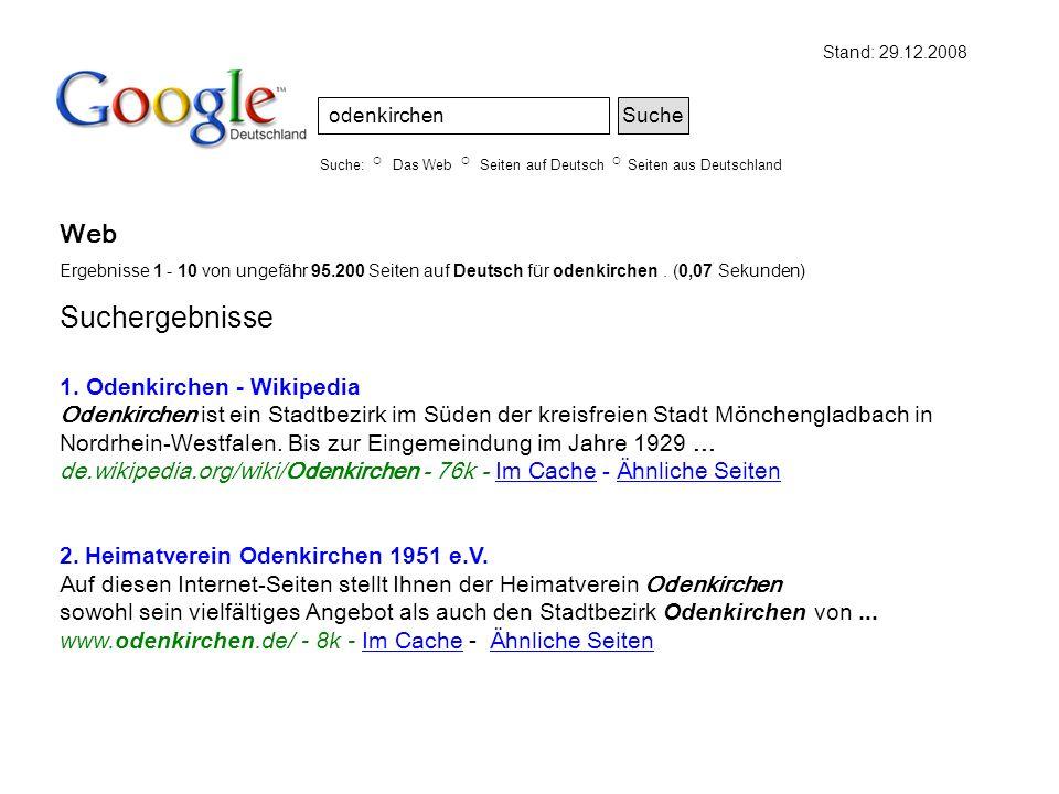 Suchergebnisse Web 1. Odenkirchen - Wikipedia