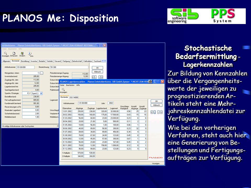 Stochastische Bedarfsermittlung -Reichweitenberechnung