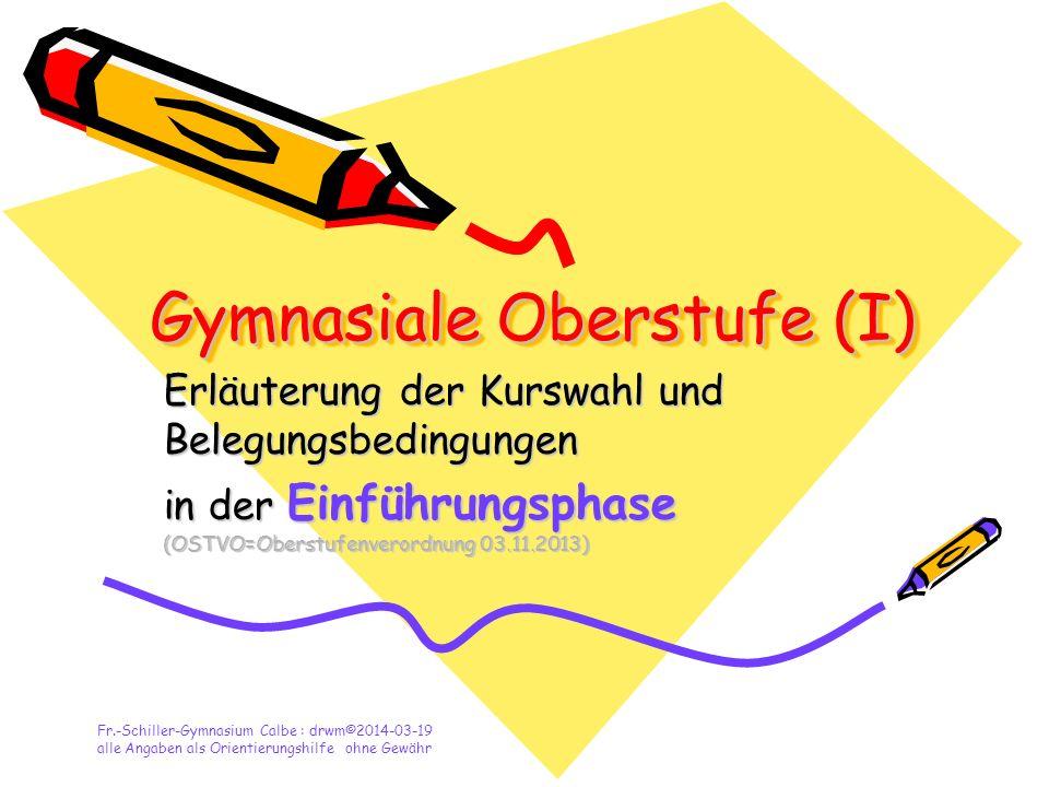 Gymnasiale Oberstufe (I)