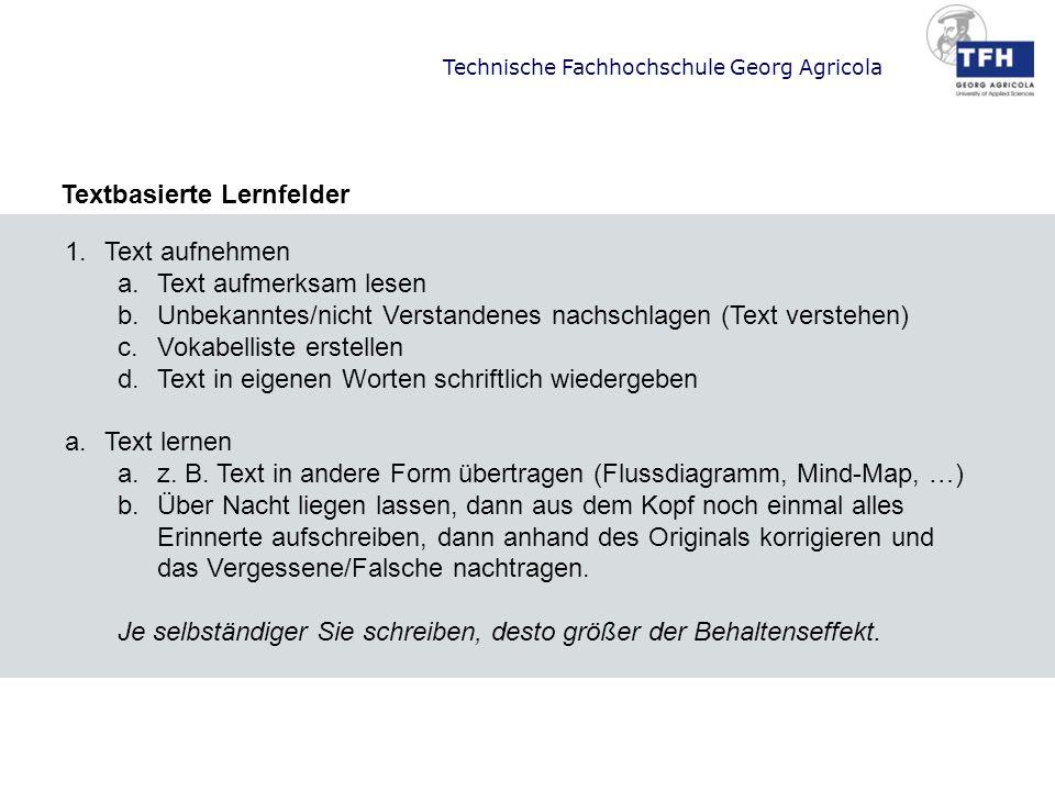 Textbasierte Lernfelder