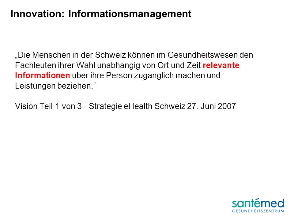 Innovation: Informationsmanagement