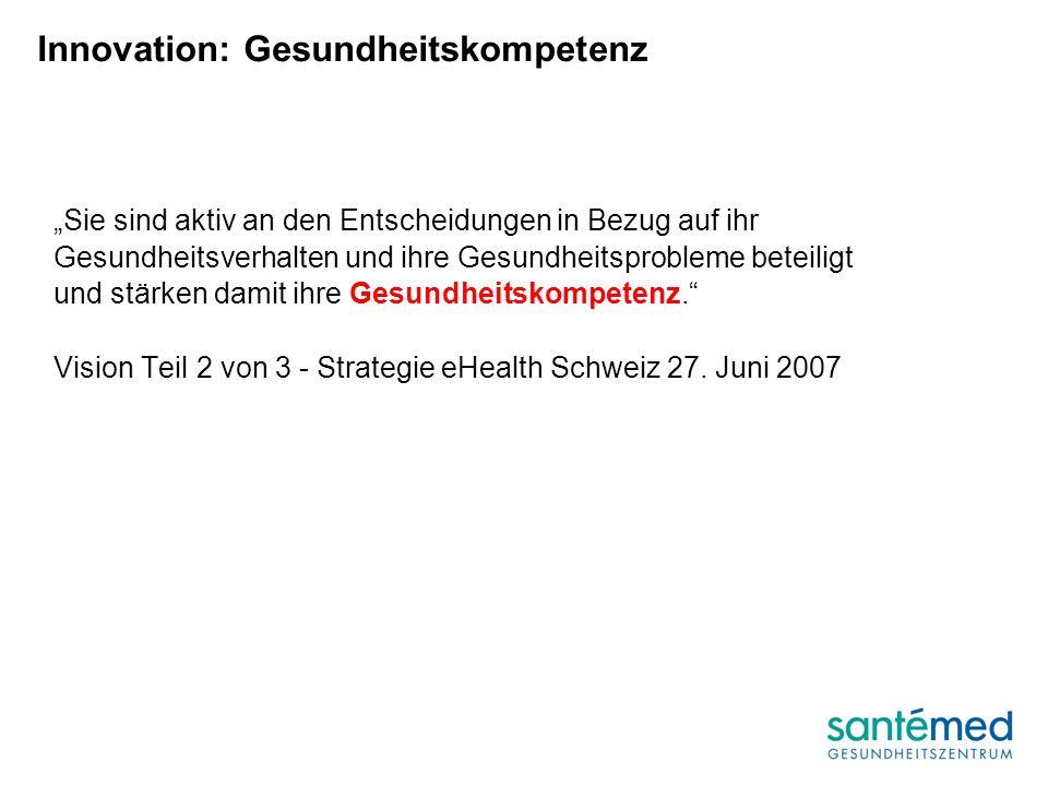 Innovation: Gesundheitskompetenz