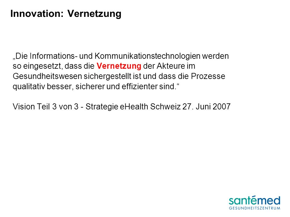 Innovation: Vernetzung