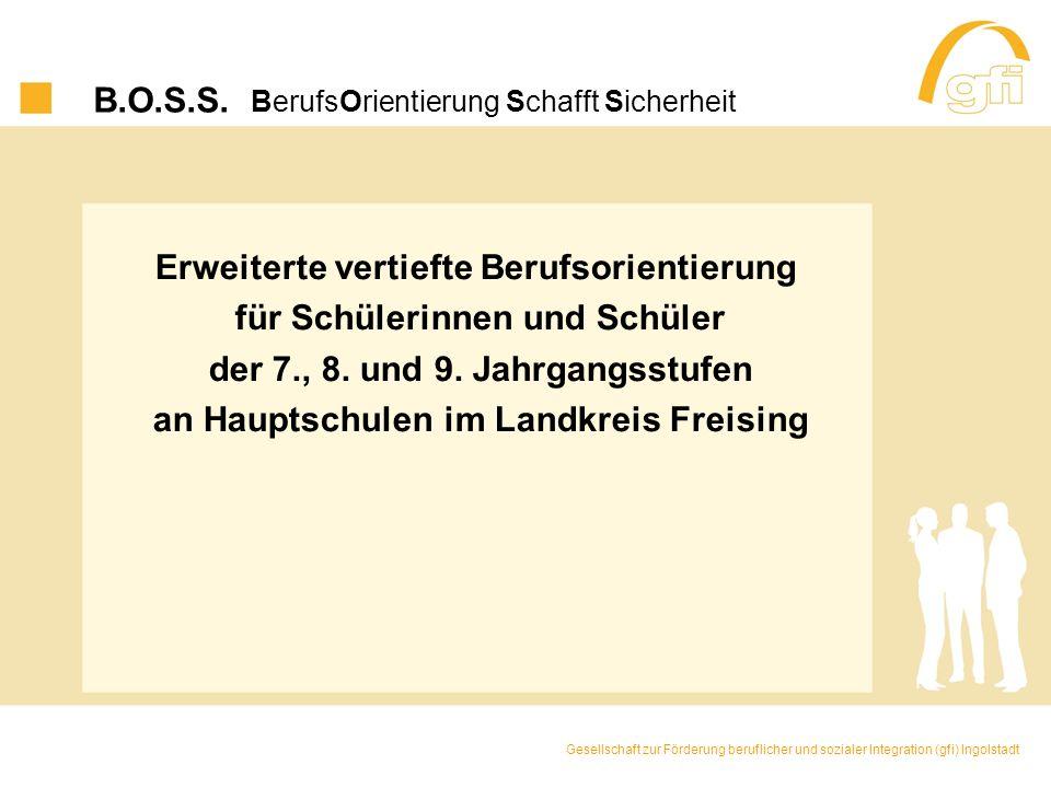 B.O.S.S. BerufsOrientierung Schafft Sicherheit