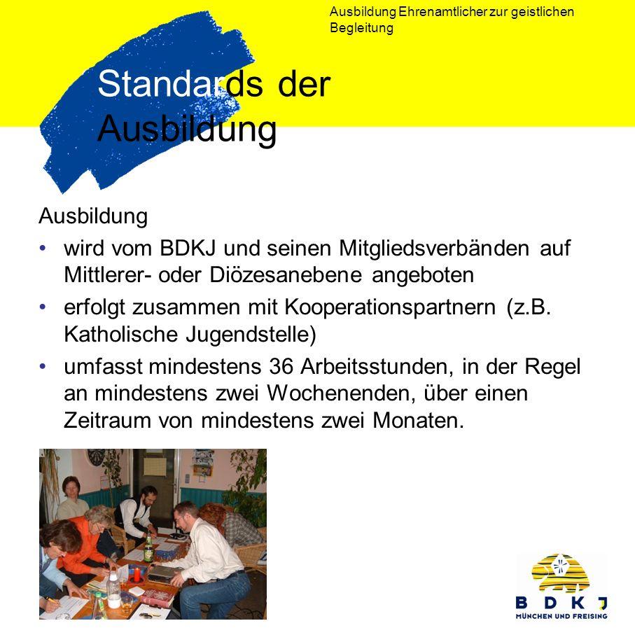 Standards der Ausbildung