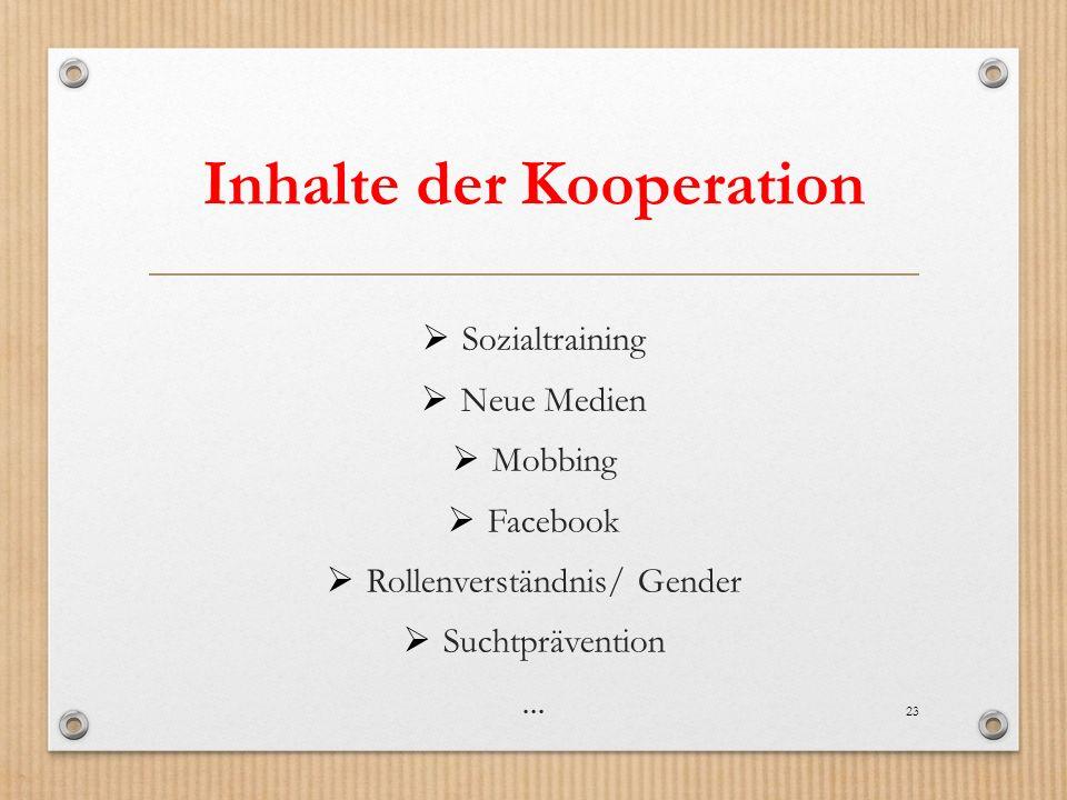 Inhalte der Kooperation