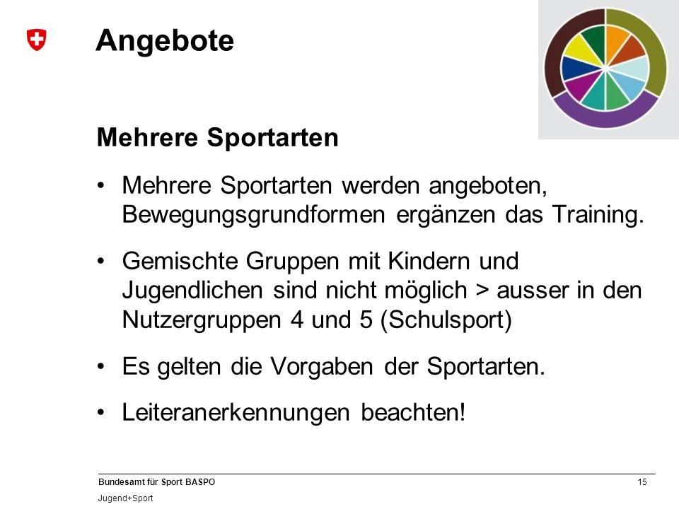 Angebote Mehrere Sportarten