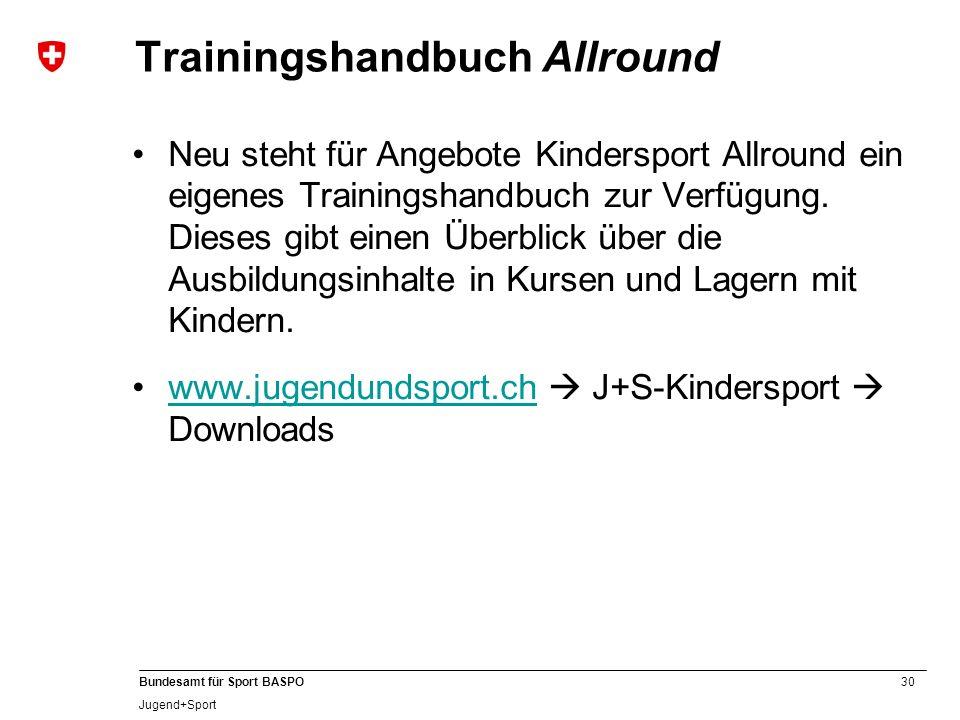 Trainingshandbuch Allround
