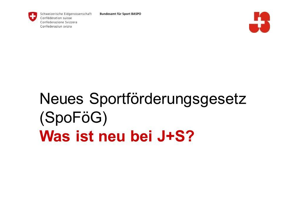 Neues Sportförderungsgesetz