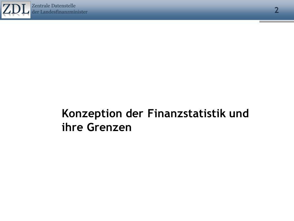 Konzeption der Finanzstatistik und ihre Grenzen