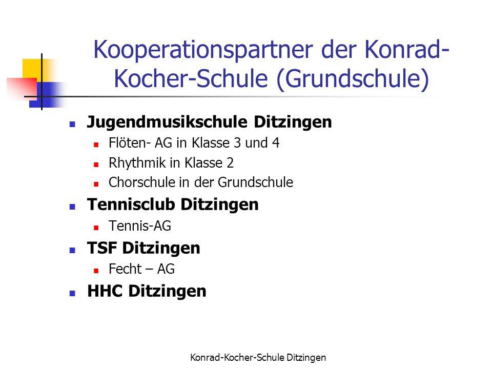 Kooperationspartner der Konrad-Kocher-Schule (Grundschule)