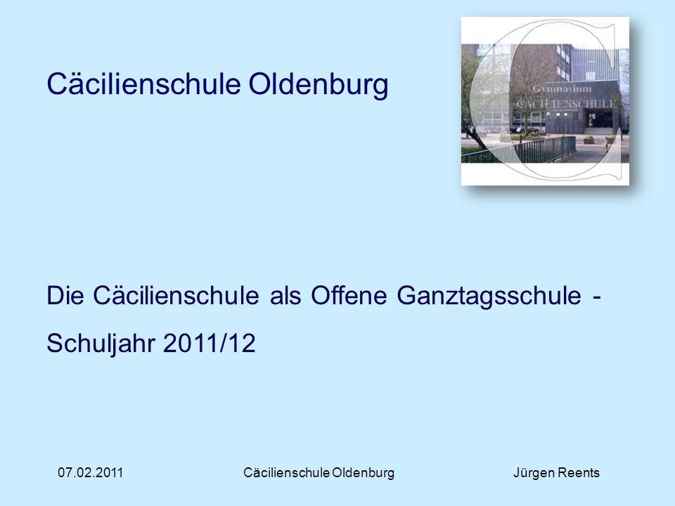 Cäcilienschule Oldenburg Jürgen Reents