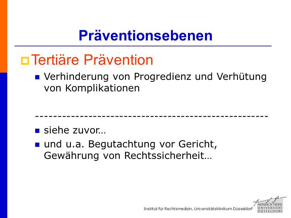 Präventionsebenen Tertiäre Prävention