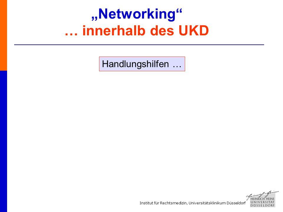 """""""Networking … innerhalb des UKD"""