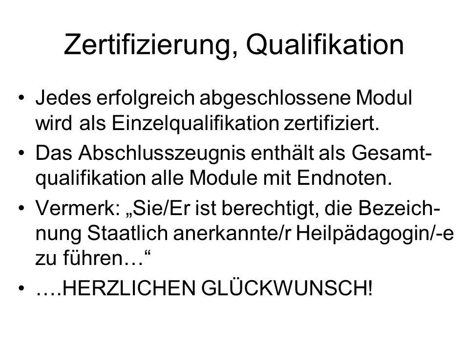 Zertifizierung, Qualifikation