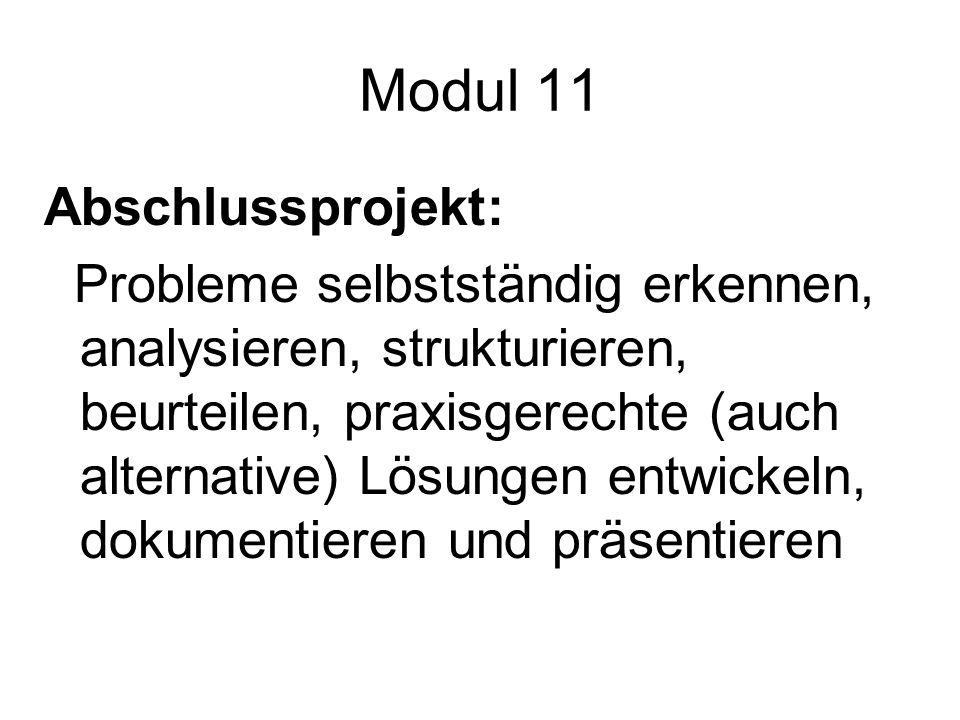 Modul 11 Abschlussprojekt: