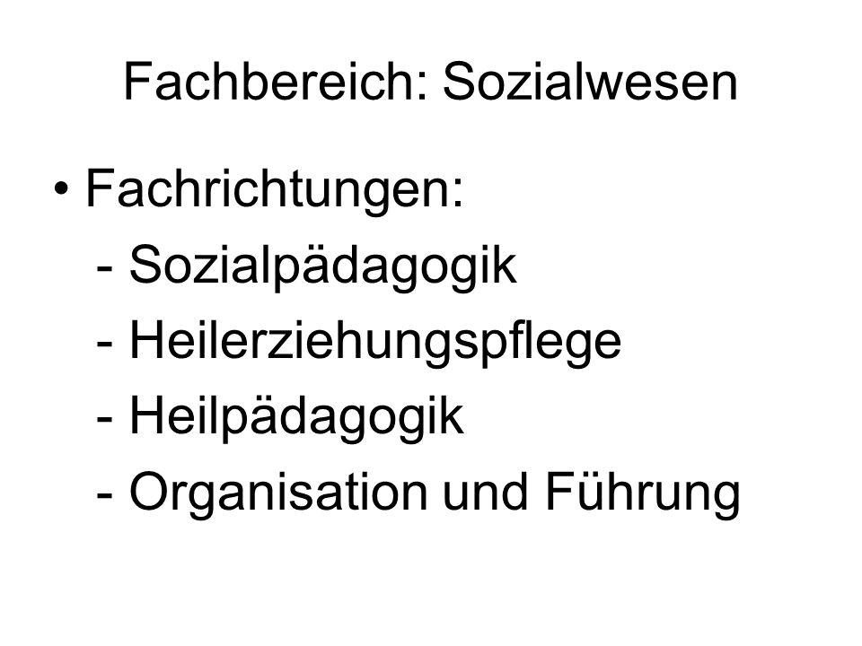 Fachbereich: Sozialwesen