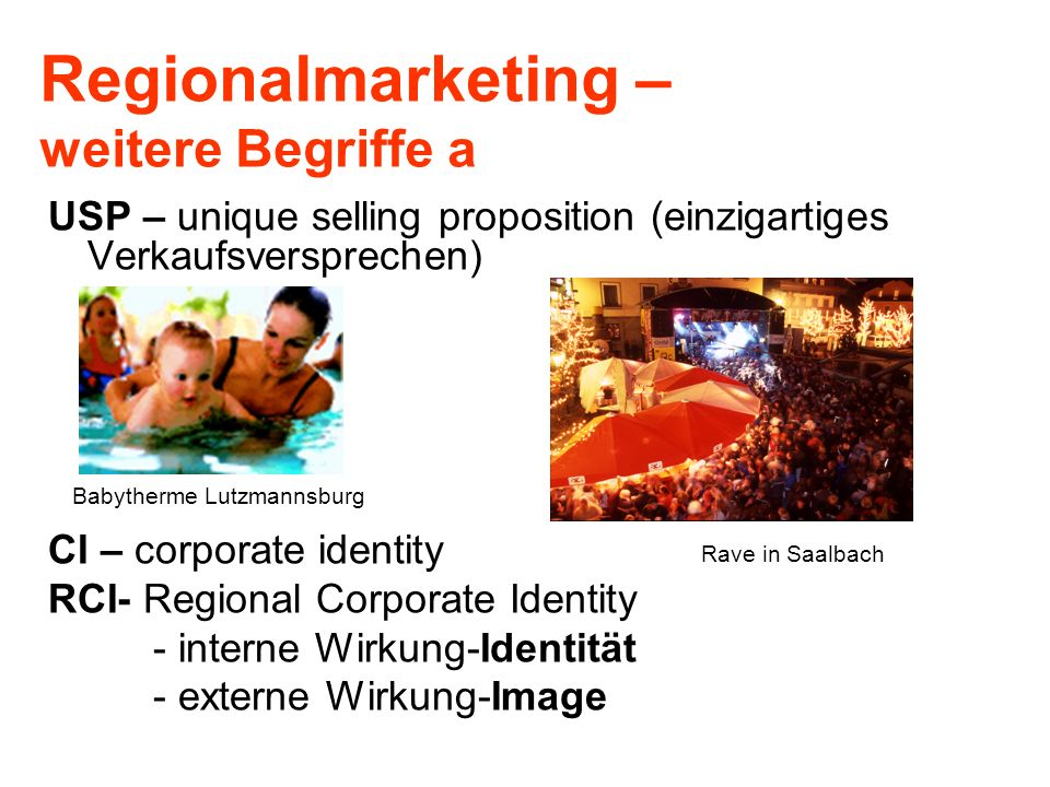 Regionalmarketing – weitere Begriffe a