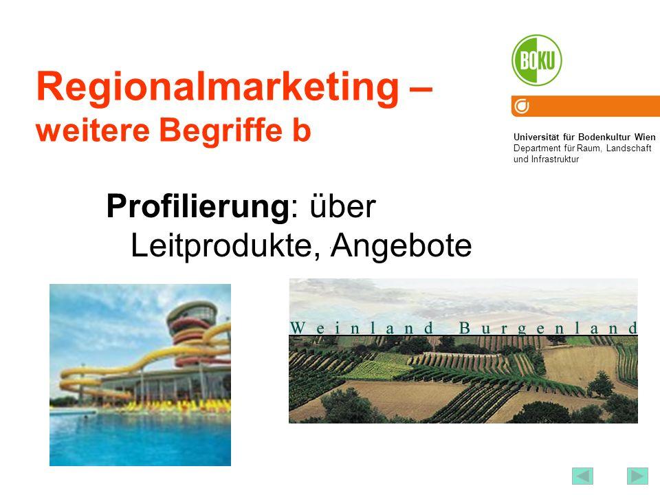 Regionalmarketing – weitere Begriffe b