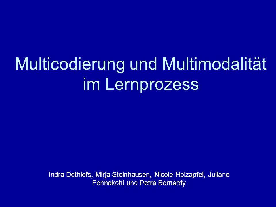 Multicodierung und Multimodalität im Lernprozess