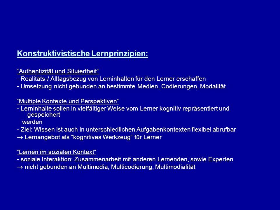 Konstruktivistische Lernprinzipien: