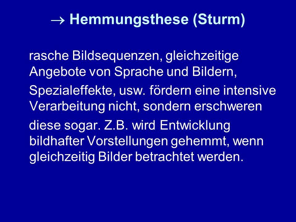  Hemmungsthese (Sturm)