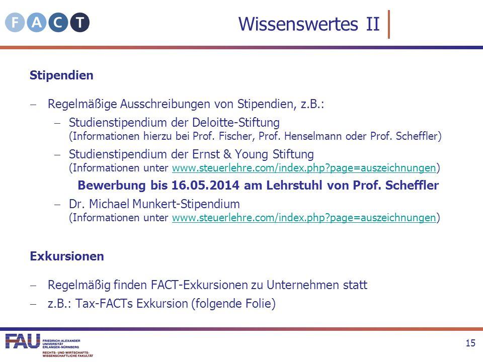 Bewerbung bis 16.05.2014 am Lehrstuhl von Prof. Scheffler