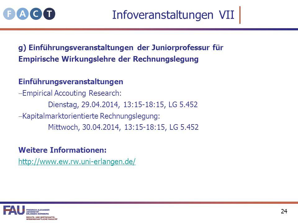 Infoveranstaltungen VII