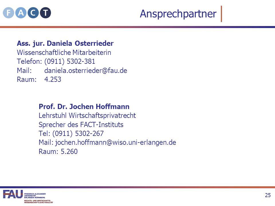 Ansprechpartner Ass. jur. Daniela Osterrieder