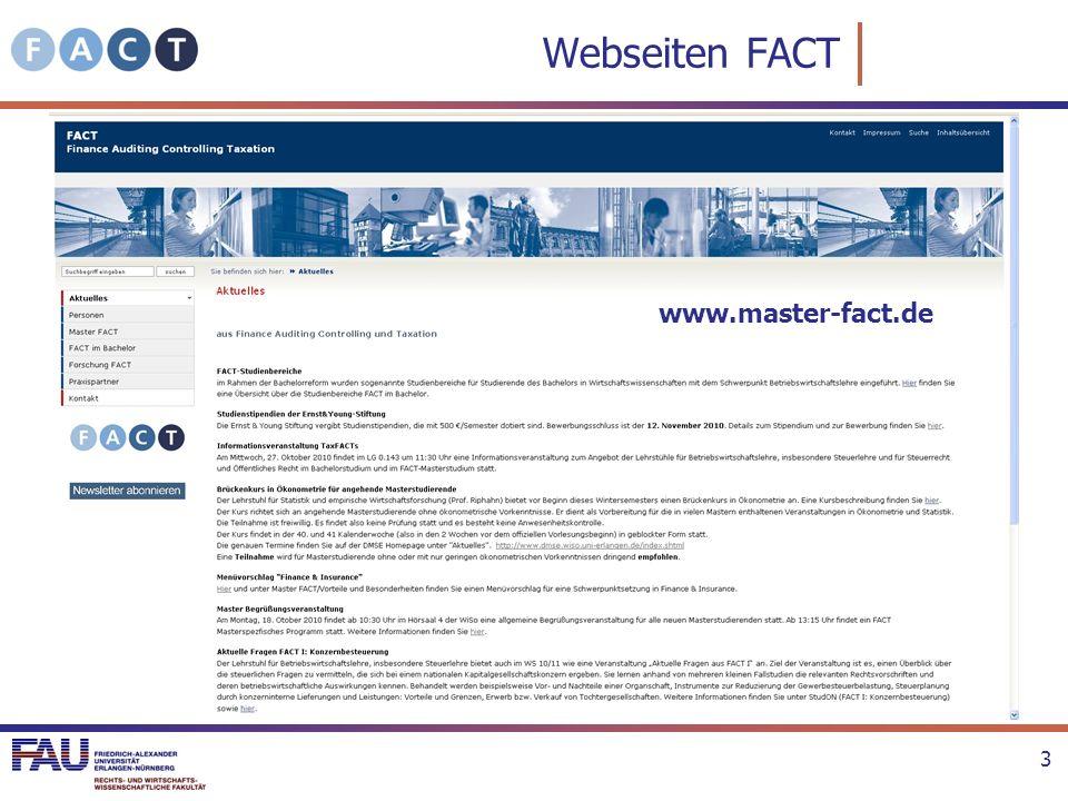 Webseiten FACT www.master-fact.de
