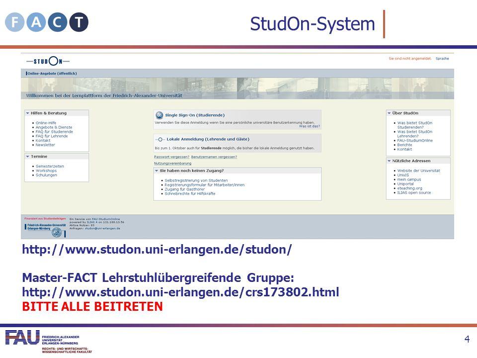 StudOn-System http://www.studon.uni-erlangen.de/studon/