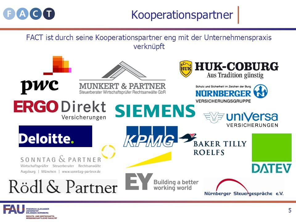 Kooperationspartner FACT ist durch seine Kooperationspartner eng mit der Unternehmenspraxis verknüpft.