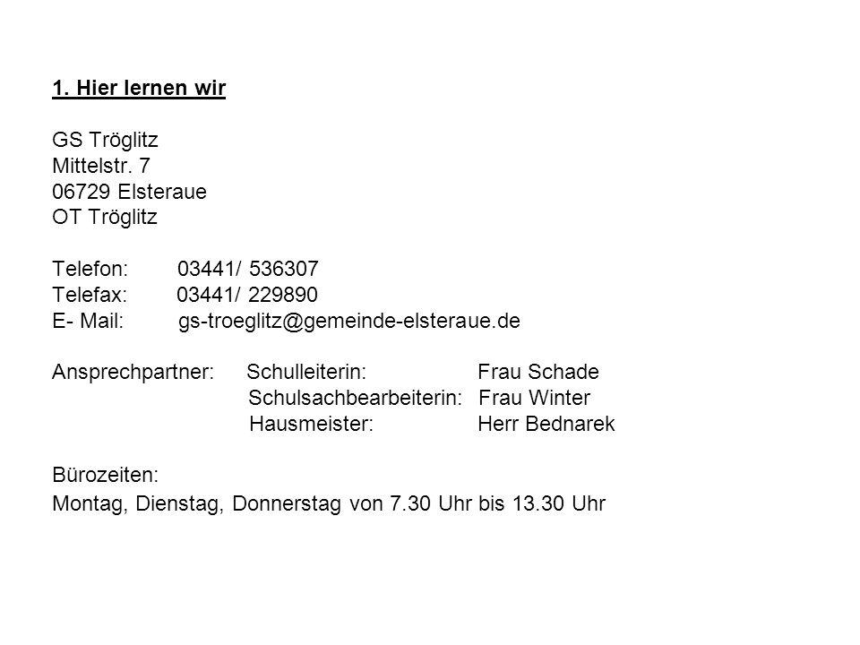1. Hier lernen wir GS Tröglitz Mittelstr