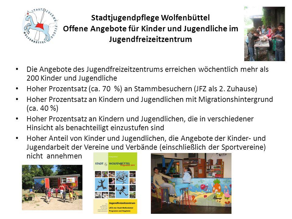 Stadtjugendpflege Wolfenbüttel Offene Angebote für Kinder und Jugendliche im Jugendfreizeitzentrum