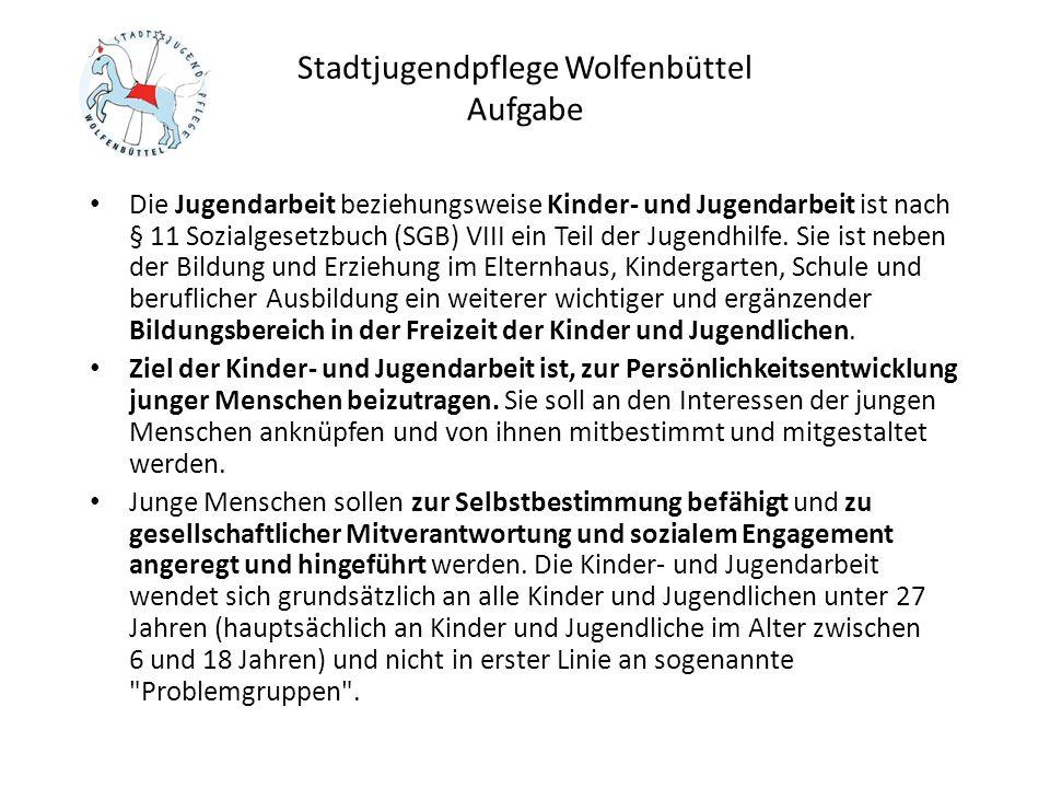 Stadtjugendpflege Wolfenbüttel Aufgabe