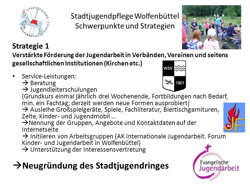 Stadtjugendpflege Wolfenbüttel Schwerpunkte und Strategien