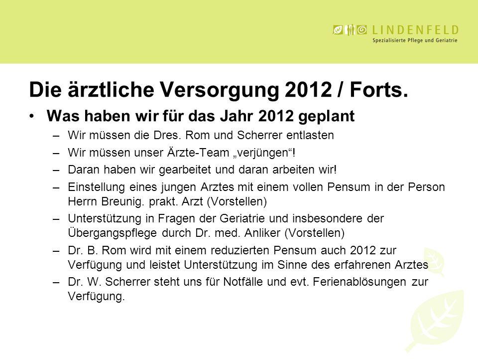 Die ärztliche Versorgung 2012 / Forts.