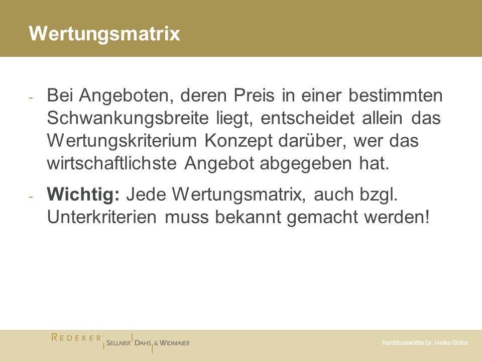 Wertungsmatrix