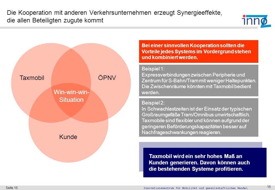 Bei einer Kooperation der Taxmobil GmbH mit der Deutschen Bahn AG sollte die sinnvolle Vernetzung der Systeme im Vordergrund stehen