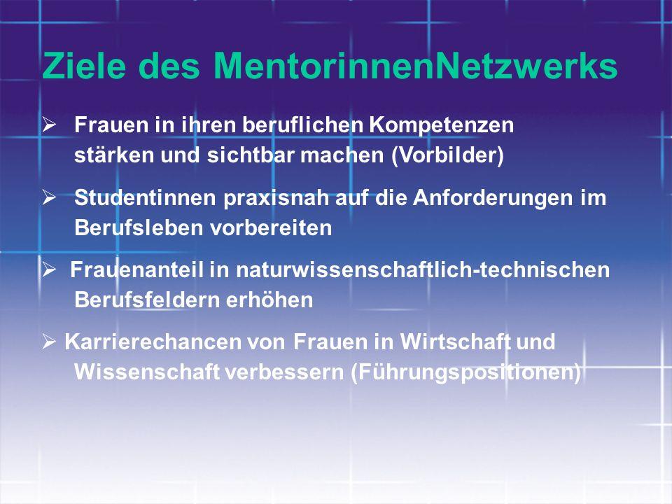 Ziele des MentorinnenNetzwerks